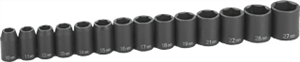 Grey Pneumatic 1412M 14 Pc. 1/2'' Drive Standard Length Metric Set
