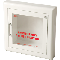 J L Industries 1417F12 Life Start AED Semi-Recessed Wall Cabinet w/Siren