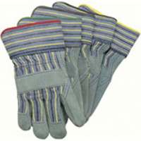 MCR Safety 1420A Select Leather Gloves,Blue Knit Wrist,(Dz.)
