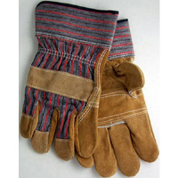 MCR Safety 1455C Triple Leather Palm, Chocolate Leather Gloves w/Safety Cuff,(Dz.)