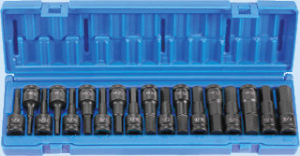 "Grey Pneumatic 1598HC 1/2"" Drive 18 Pc. Combo Socket Set"