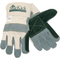 MCR Safety 16012M Side Kick® Gloves Dbl. Leather, Kevlar Thumb/Index,M,(Dz.)
