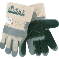 MCR Safety 16025L Side Kick® Gloves Double Leather, Kevlar Thumb/Fingers,L,(Dz.)