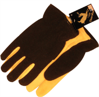 Majestic Glove 1664/10 Deer Split Palm/Fleece, Large