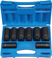 Grey Pneumatic 1708SN 8 Pc. Axle/Spindle Nut Socket Set