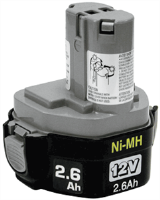Makita 193157-5 12V BATTERY,NI-MH,2.6AH