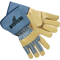 "MCR Safety 1936L Mustang™ Premium Leather Palm, 4.5""Gauntlet,L,(Dz.)"