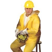 MCR Safety 2002 2-Piece Rain Suit, Yellow, Small