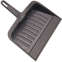 Rubbermaid 2005 Heavy-Duty Plastic Dust Pan, Black