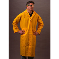 "MCR Safety 200C 49"" Raincoat w/ Detachable Hood, Yellow, Medium"