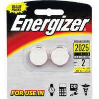 Energizer 2025 3V Coin Lithium Batteries (2/Pk) 2025BP-2