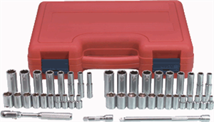 "K Tool International 21044 Socket Set Chrome 44 Pc. 1/4"" Drive SAE & Metric"