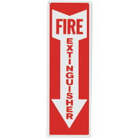"""FIRE EXTINGUISHER"" Arrow Aluminum Sign"