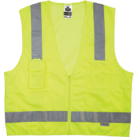 Ergodyne 21423 GloWear® 8250Z Class 2 Surveyors Vest Lime, S - M