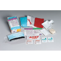 First Aid Only 214-P 16-Piece Bodily Fluid Clean-Up Kit, Disposable Tray