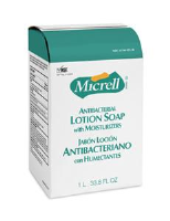 Gojo 2157-08 Micrell Antibacterial Lotion Soap, 1000ml NXT, 8/Cs.