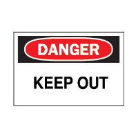 "Brady 22111 ""Danger: Keep Out"" Sign, 7"" x 10"", Plastic, B-401"