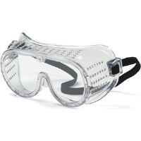 MCR Safety 2220 Economy Perforated Goggles w/Clear Lens,Soft Side