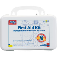 First Aid Only 222-G 10-Person, 62-Pc. Kit w/Gasket (Plastic)