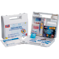 First Aid Only 222-U 10-Person, 62-Pc. Kit w/Dividers (Plastic)