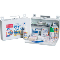 First Aid Only 224-F 25-Person, 107-Pc. Kit w/CPR Shield (Metal)