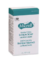 Gojo 2257-04 Micrell Antibacterial Lotion Soap, 2000ml NXT, 4/Cs.