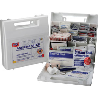 First Aid Only 225-AN 50-Person, 195-Pc. Bulk Kit w/Dividers (Plastic)