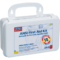 First Aid Only 238-AN 10-Unit, 46-Pc. Unitized Kit w/Gasket (Plastic)
