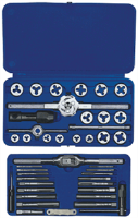 Irwin 24606 41 Pc. Machine Screw / Fractional Tap & Hex Die Set