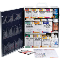 First Aid Only 247-O/P 3-Shelf, 100-Person, 1,041-Pc. Station w/12-Pocket Liner