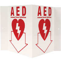 """AED"" 3-D Rigid Plastic Sign"