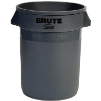 Rubbermaid 263200 Brute® 32 gal Gray Round Trash Can