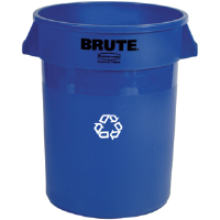 Rubbermaid 2632-73 Brute® 32 gal Recycle Container, Blue