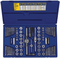 Irwin 26376 76 Pc. Machine Screw/SAE/Metric Tap & Hex Die Set