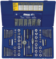 Irwin 26377 117 Pc. Machine Screw/SAE /Metric Tap & Hex Die and Drill Bit Deluxe Set