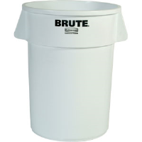 Rubbermaid 264300 Brute® White 44 gal Round Trash Can