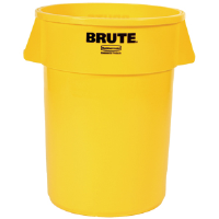 Rubbermaid 264300 Brute® Yellow 44 gal Round Trash Can