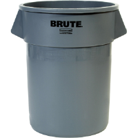 Rubbermaid 265500 Brute® Gray 55 gal Round Trash Can