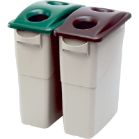 Rubbermaid 2692-88 Slim Jim® Green Bottle/Can Recycling Top