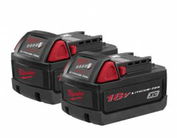 Milwaukee 2702-22 M18&#153L XC Lithium-Ion Batteries, 2 Pack