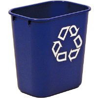 Rubbermaid 2955-73 Small Deskside Recycling Container