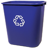 Rubbermaid 2956-73 Medium Deskside Recycling Container
