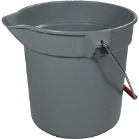 Rubbermaid 2963 Brute® Gray Round Bucket, 10 Quart