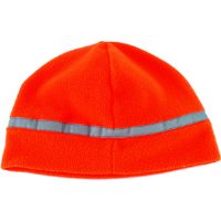 Jackson Safety 3014360 ANSI Reflective Fleece Hat, Orange w/ Silver