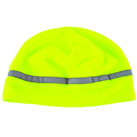 Jackson Safety 3014361 ANSI Reflective Fleece Hat, Lime w/ Silver