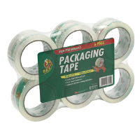 "Duck Brand 307279 Heavy-Duty Clear Bulk Tape, 6/Pkg, 1.88"" x 54.6 yd"
