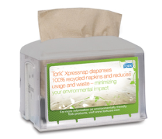 SCA Tork 31XPT Xpressnap® Tabletop Napkin Dispenser, 4/Cs.