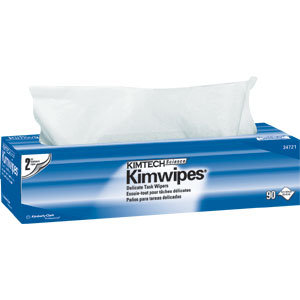 Kimberly Clark 34721 Kimwipes Delicate Task Wipers 2-Ply,15 Boxes/90 ea