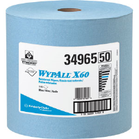 Kimberly Clark 34965 Wypall® X60 Wipers, Jumbo Roll, Blue, 1,100/Roll