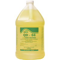 Quest Chemical 353415 QD-64 LEMON Disinfectant 64:1, 1 Gal, 4/Cs.